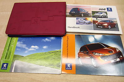 PEUGEOT 206 2003-2009 Owners Manual Handbook & SERVICE BOOK with Wallet Pack