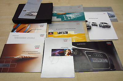 AUDI A6 SALOON 1998-2004 Owners Manual Handbook & SERVICE BOOK with Wallet Pack