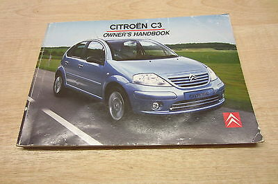 CITROEN C3 2002-2005 Owners Manual Handbook Guide Book only Pack