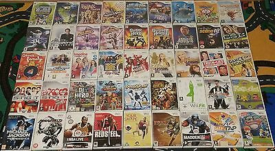 45 x WII games                EACH TITLE IS DIFFERENT collection JOB LOT bundle