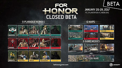 For Honor CLOSED BETA/Redemption Code Key Multiplatform PC PS4 XBOX (honour)