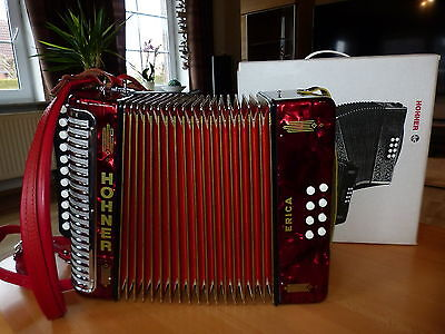Vintage Hohner Erica C/F, Melodeon, Made in Germany, Wie neu - at NEW!!