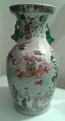Grand vase, porcelaine de Chine, Canton, Famille Rose .