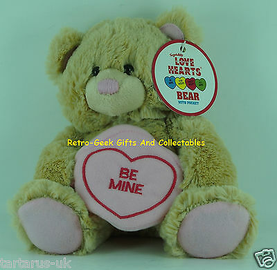 Valentines Gift Love Hearts Teddy Bear Be Mine With Heart Gift Pouch By Swizzels