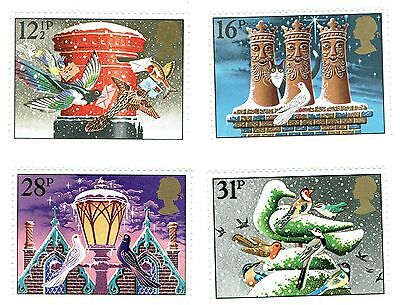 1983 Great Britain - Christmas Stamps - 4 x Stamps