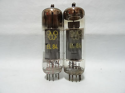 Matched Pair El84 Rft Vacuum Pentode Audio Tube Very Strong Test Over 100%