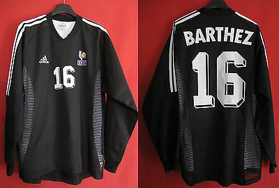 Maillot Adidas Equipe France Gardien Vintage Barthez Double couche n° 16 - M