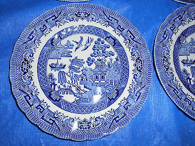2 WESSEX COLLECTION Blue Willow Salad Bread Plates England