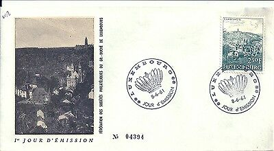 luxembourg fdc clervaux 1961