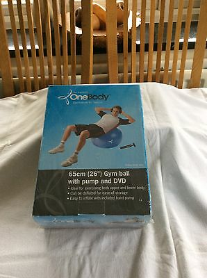 """65cm (26"""") Gymball with Pump and DVD NIB"""