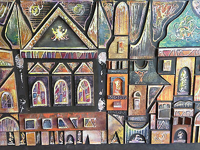 Original Art Painting Signed by JACK RAY - Damaged for Restoration - Carnival