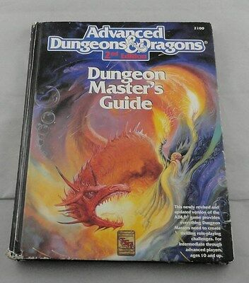 Advanced Dungeons and Dragons 2nd Dungeon Masters Guide TSR2100  Master's AD&D