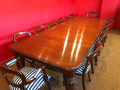 MAGNIFICENT 12ft REGENCY STYLE CUBAN MAHOGANY TABLE, PRO HAND FRENCH POLISHED