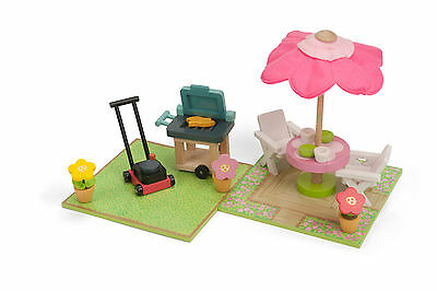 Le Toy Van Daisylane Wooden Dolls House Furniture - Patio & BBQ Set