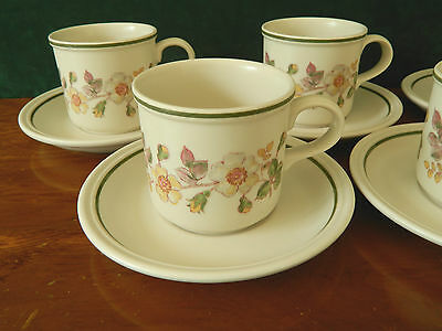 4 Marks & Specer 'autumn Leaves' Cups And Saucers