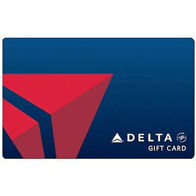 Delta Air Lines Gift Card $50 $100 or $250 - Email delivery