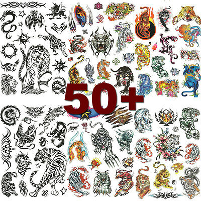6 Sheets Unisex Tiger Temporary Tattoo Tattoos