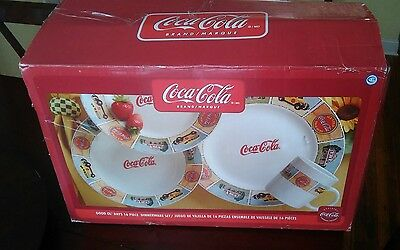 COCA COLA Dinnerware PLATES Dishes Gibson GOOD OL' DAYS SALAD BOWLS MUGS 16 PC
