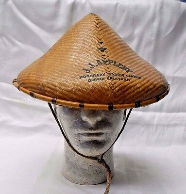 J.J. Appleby Honorary Barrio Captain oriental bamboo vintage Halloween hat