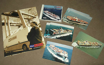 'P&O Nedlloyd' Container Ships.  DVD & Postcards In Folder.  C.2004.