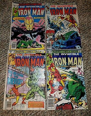 Iron Man Lot Low to Mid Grade Lot #115,124,135,159