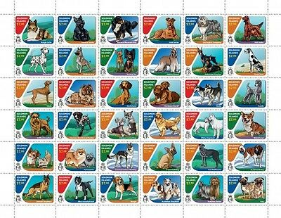 Z08 IMPERFORATED SLM16418a SOLOMON ISLANDS 2016 Dogs Full Sheet MNH ** Postfrisc