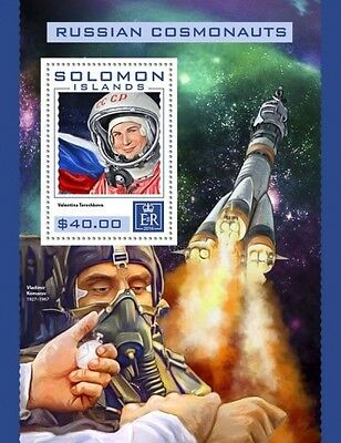 Z08 IMPERFORATED SLM16425b SOLOMON ISLANDS 2016 Russian cosmonauts MNH ** Postfr