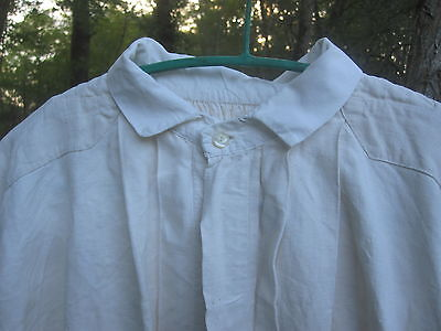 Antique French Linen/Coton Metis Chemise  Linen Shirt  Gentleman Night Gown