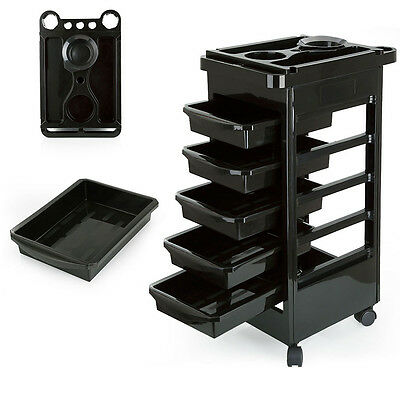 UK Salon Hairdresser Barber Beauty Storage Trolley Hair Drawers Roller Cart Spa