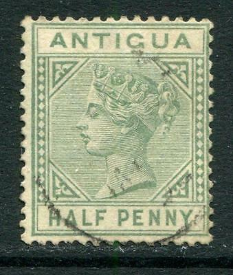 Antigua: 1882 Queen Victoria ½d stamp - Crown CA SG21 Used R298