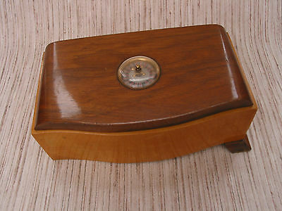Vintage Wooden Thorens Musical Box with Roulette Wheel Design Serpentine Front