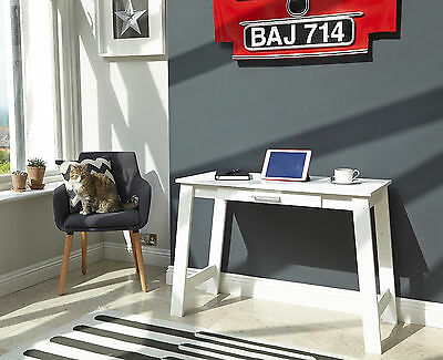 White Modern Computer Desk Home Office PC Table Student Workstation Furniture