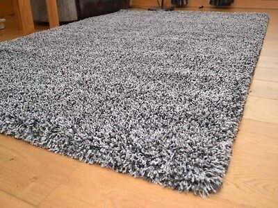 Silver Mix Small Extra Large 5cm Soft Thick Pile Plain Shaggy Long Runner Rugs