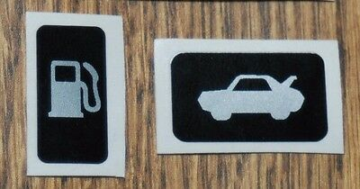 Toyota Mr2 Mk3 Roadster Boot Lid Lever & Fuel Flap Replacement Stickers. Mrs