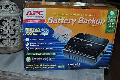 APC Back-UPS ES 550-Uninterruptible Power Supply-BE550G-UK-8 Outlets-NEW-rrp£79