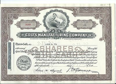 Colt Company Stock Certificate