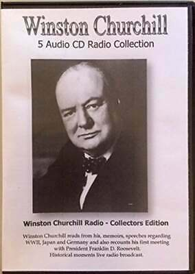 Winston Churchill 5 Audio CD's Historical Speaches-Dramatization 18 Radio Shows