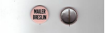 Mailer Breslin 1969 NYC Mayoral Race Campaign Election PIN DAY GLOW ORANGE