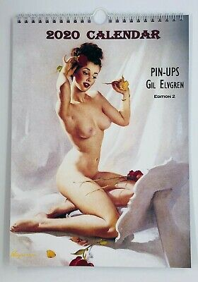 Gil Elvgren Wall Calendar 2018 Pin Up Erotic Glam Sexy Girl Retro A4 New Sealed