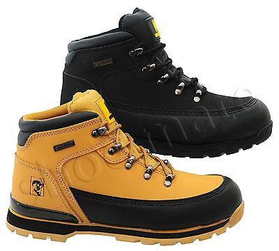 New Mens Lightweight Leather Steel Toe Cap Safety Work Boots Shoes Trainers Uk