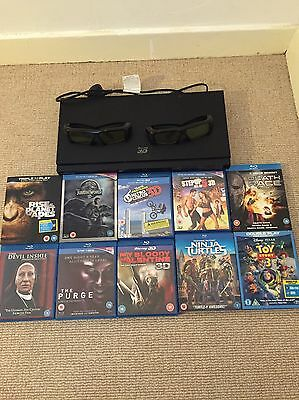 Samsung 3D Blu Ray Player With 2 Glasses, 10 Movies And Controller
