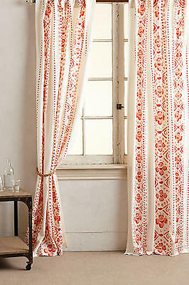 2 NEW Anthropologie Printed Lyndley Curtains Panel BY Camp Home 50 x 63