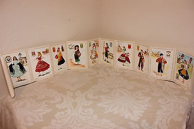 Vintage Lot of 10 Postcards from Spain, Embroidered, Elsi Gumier, Colorful!