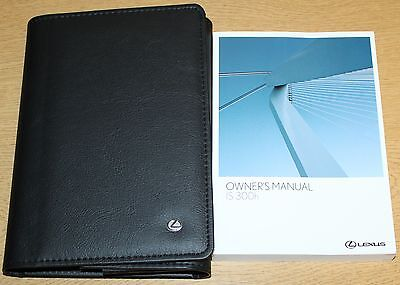 LEXUS IS 300h HANDBOOK OWNERS MANUAL WALLET 2013-2015 PACK 3130