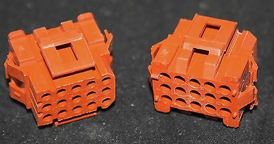 6 off  (6 pieces) 15 Way crimp housing 3X5 see listing for size (2104)