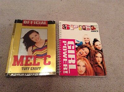 Spice Girls Note Book & Mel C Book - Official 1997 Merchandise  - Rare!