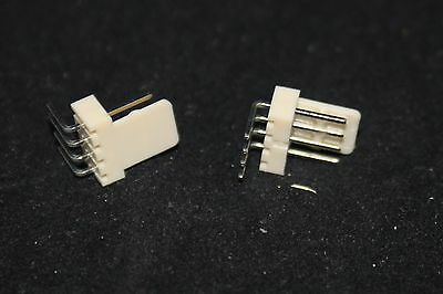 5 off (5 pieces) 4 Way Right angle header flanged 2.54 pitch molex style (2106)