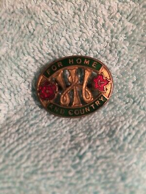 Original WW2 Womens Institute For Home And Country Badge - W O Lewis
