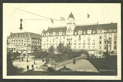 NORWAY - EIDSVOLDS PLADS, OSLO  VINTAGE c1926 R/P POSTCARD