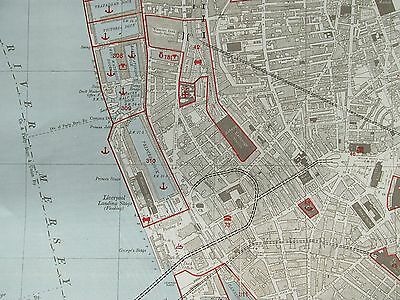 WW2 German Target Maps for the bombing of Liverpool